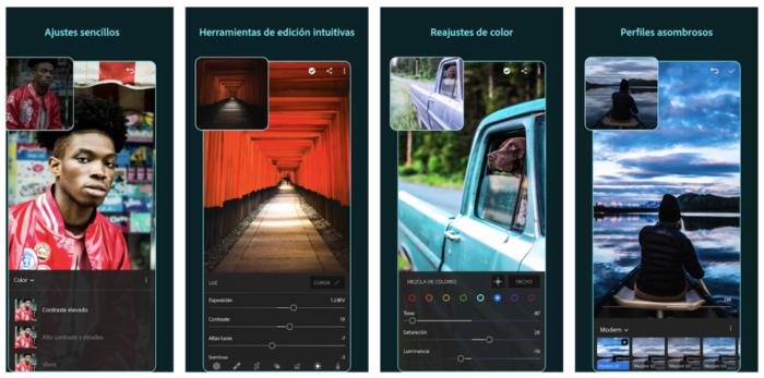 lightroom aplicación para editar fotos