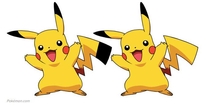 Pikachu diseño cola negra